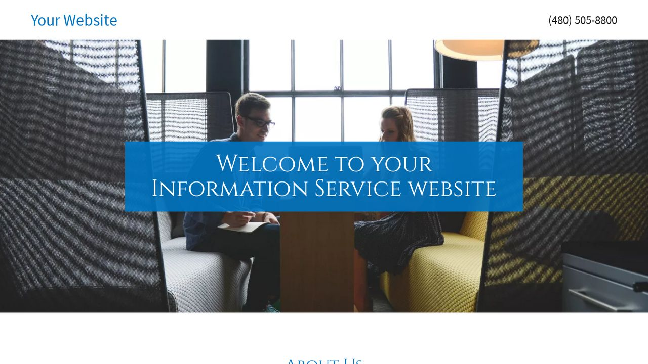 Information Service Website: Example 13