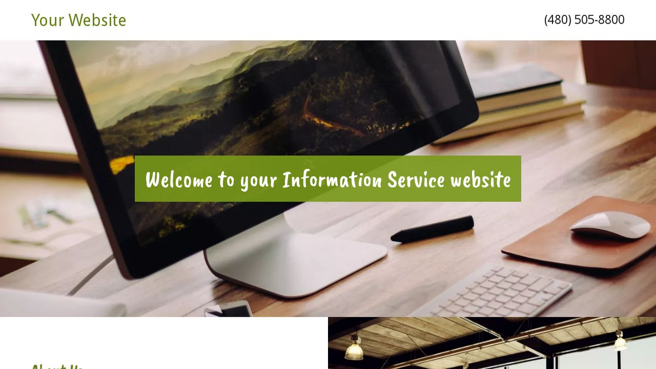 Information Service Website: Example 6