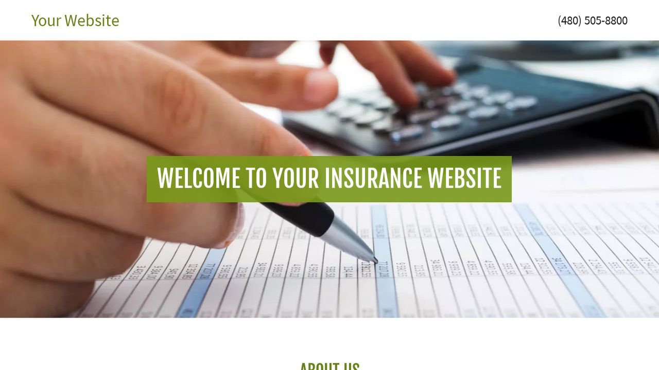 Insurance Website: Example 12