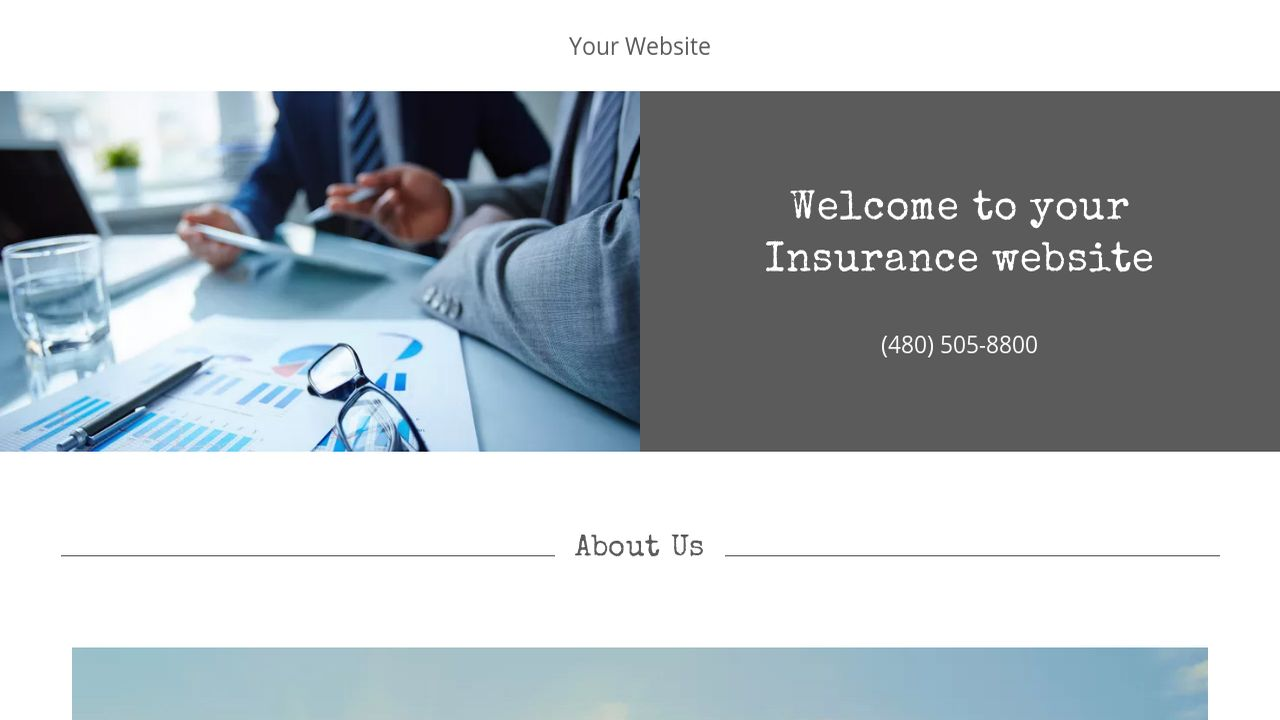 Insurance Website: Example 16