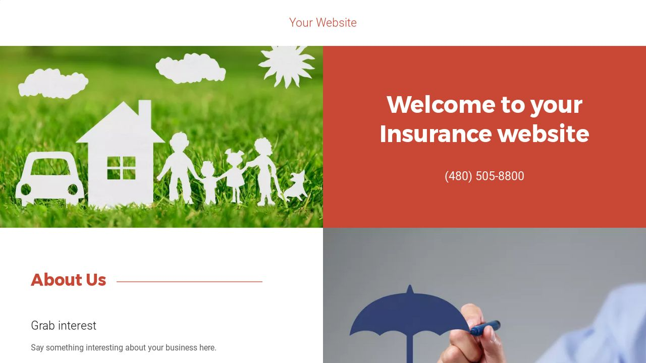 Insurance Website: Example 9