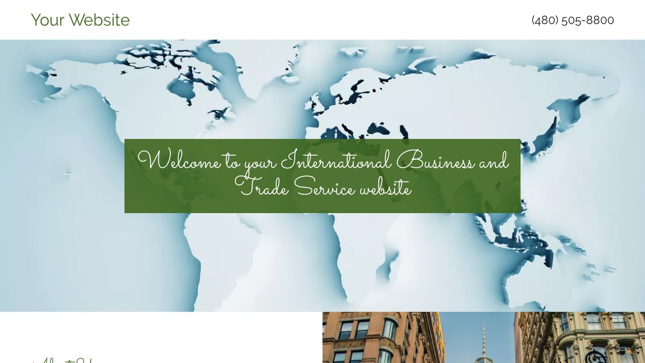 International Business and Trade Service  Website: Example 1