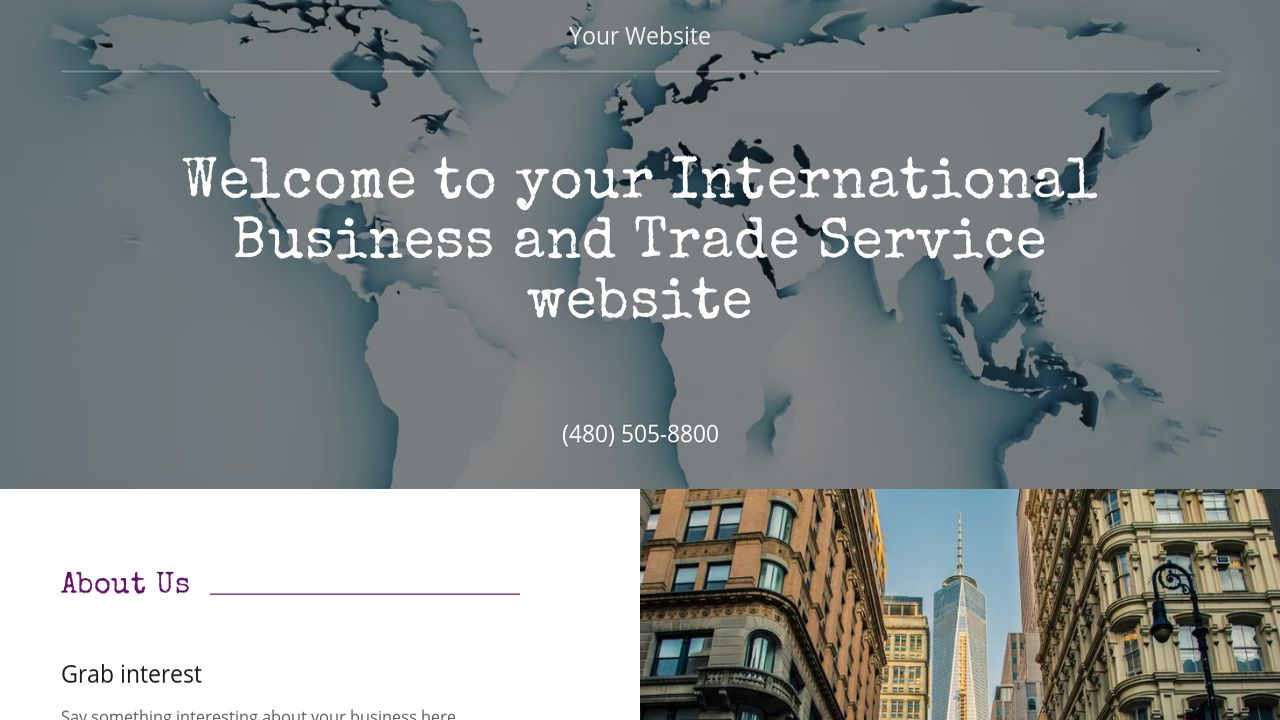 International Business and Trade Service  Website: Example 11