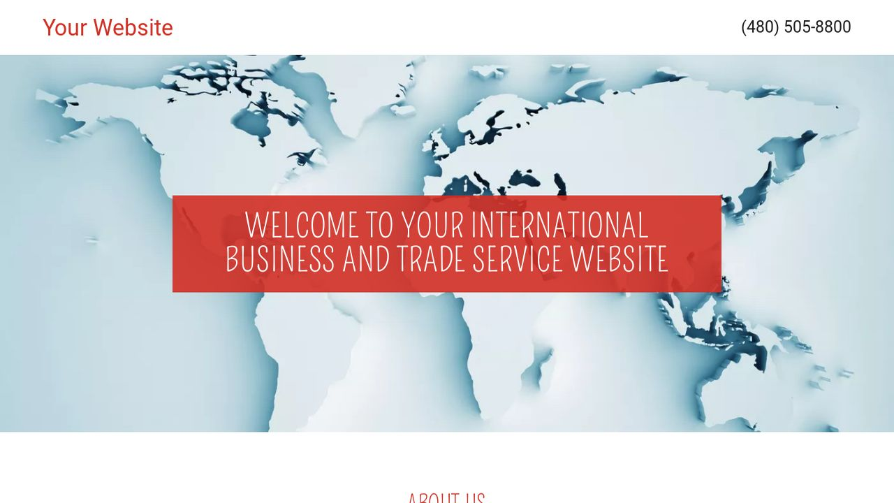 International Business and Trade Service  Website: Example 15