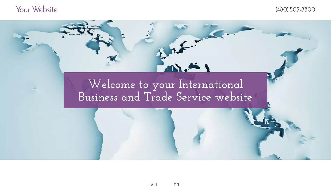 International Business and Trade Service  Website: Example 8