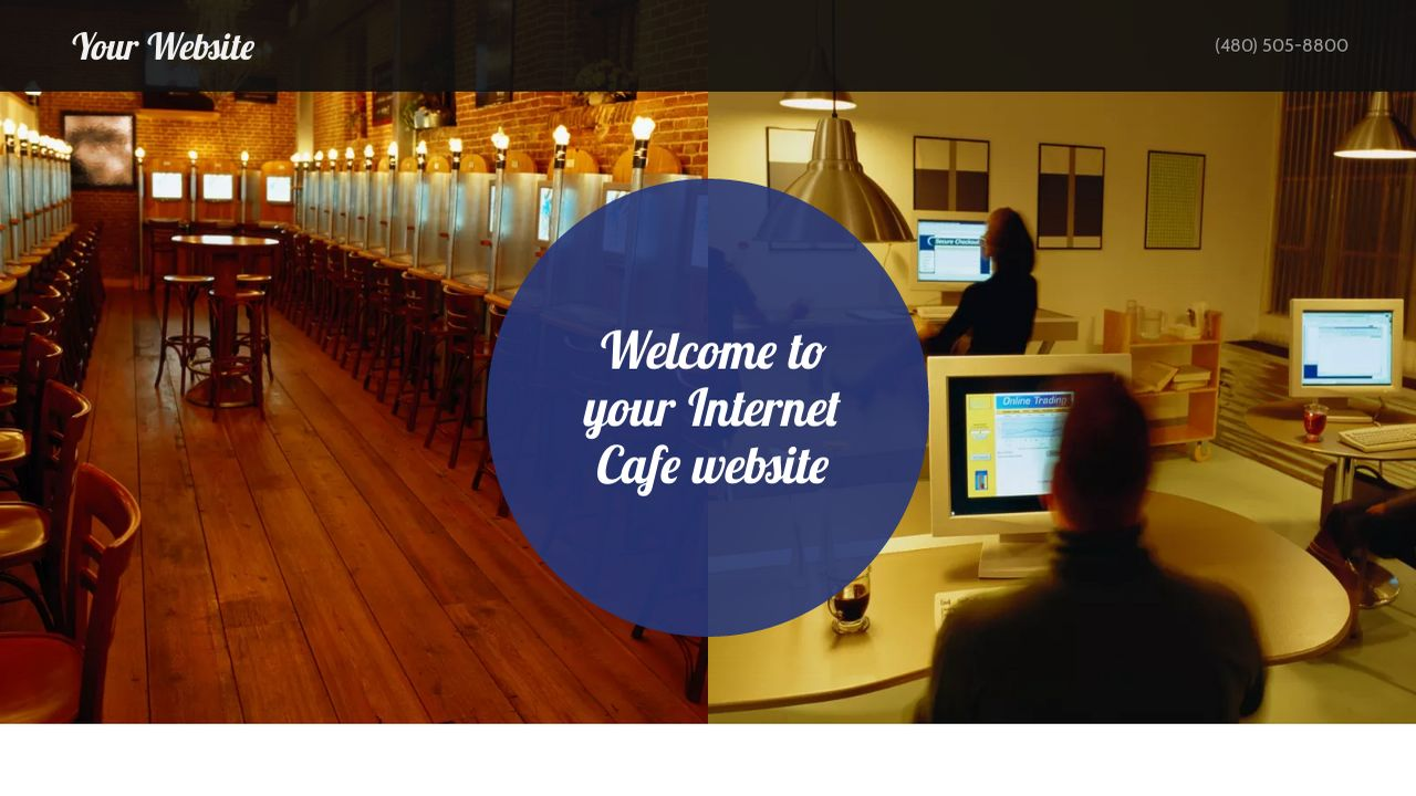 example 11 internet cafe website template godaddy