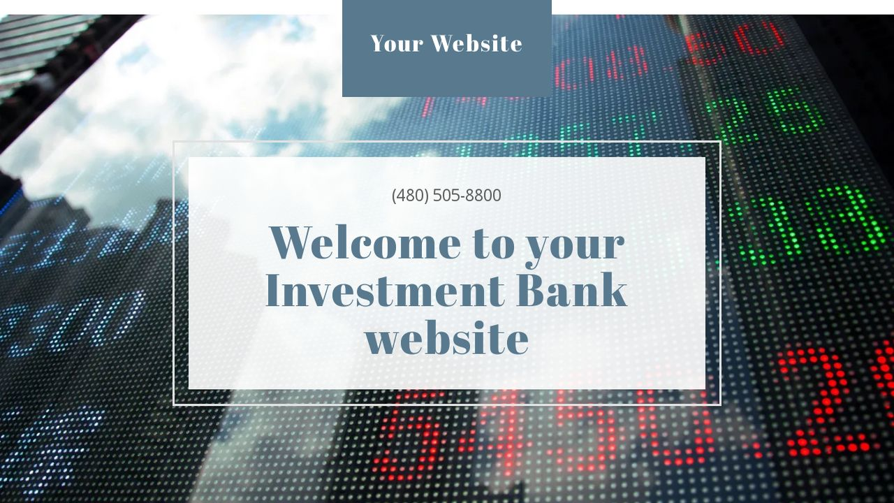 Investment Bank Website: Example 17
