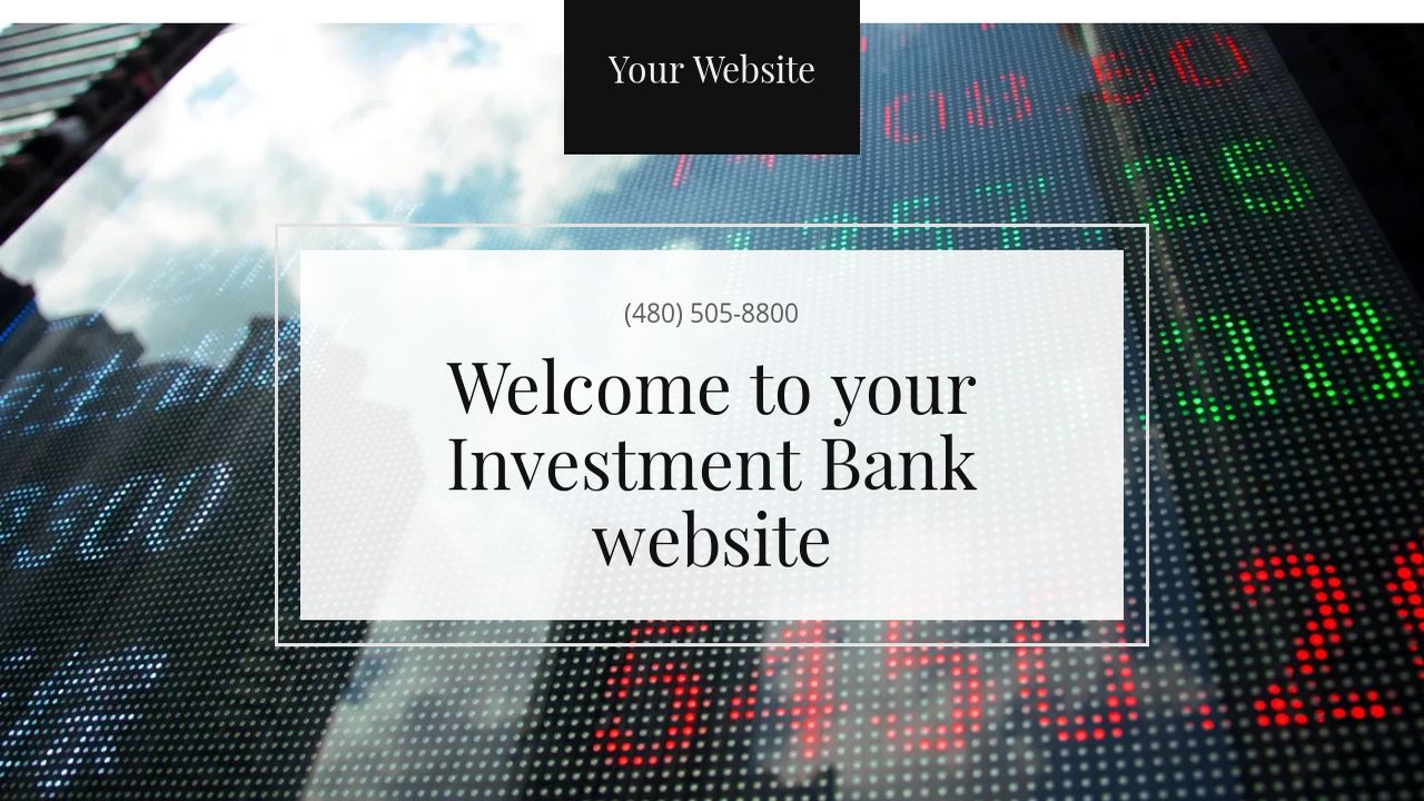 Investment Bank Website: Example 3