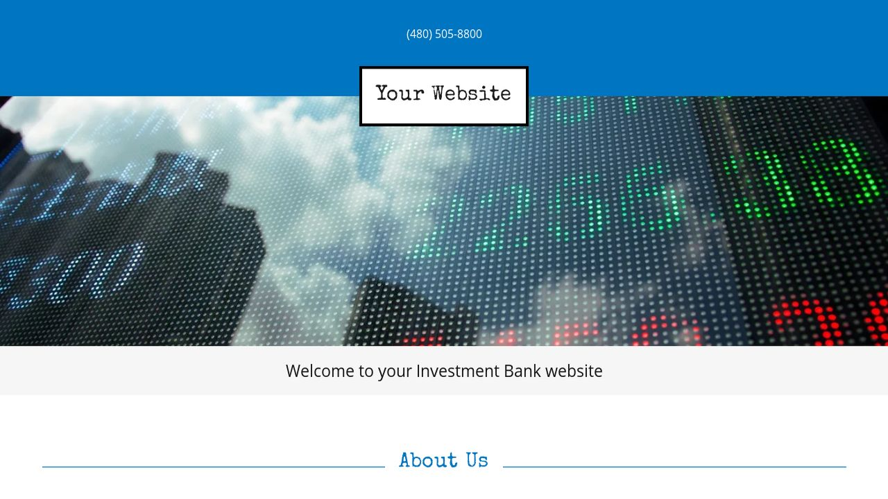 Investment Bank Website: Example 4