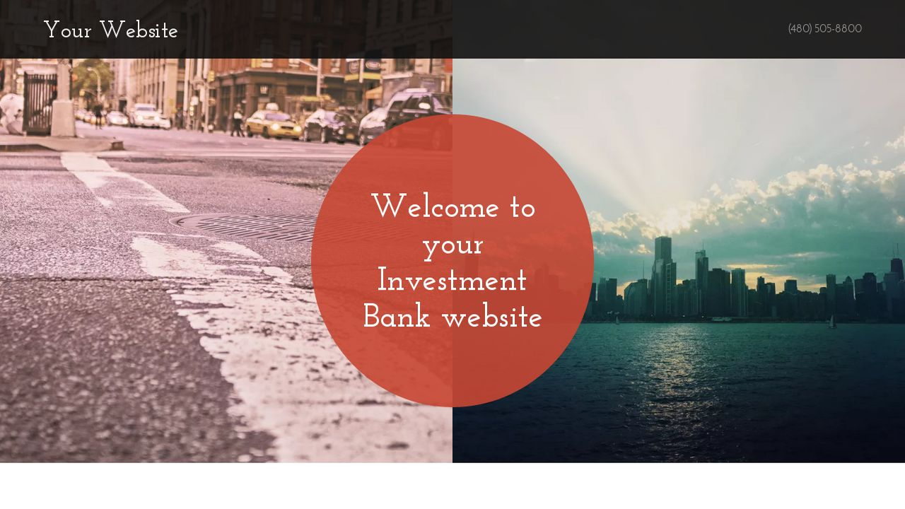 Investment Bank Website: Example 5