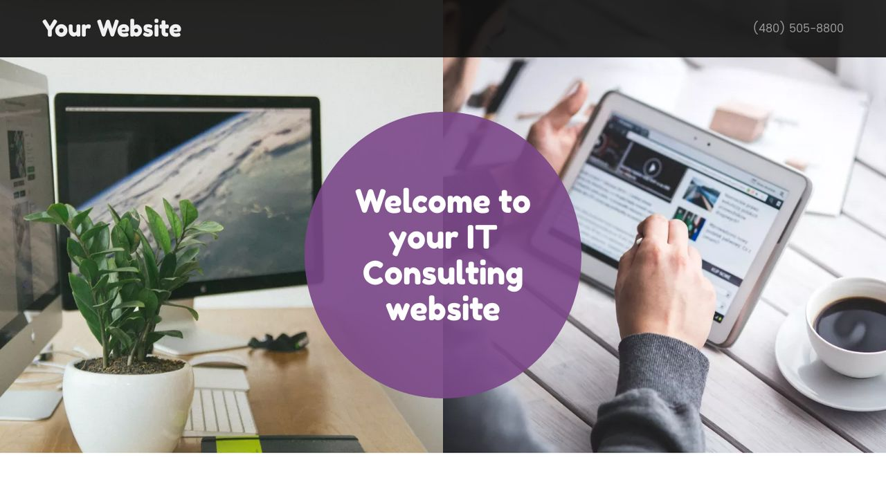 IT Consulting Website: Example 1
