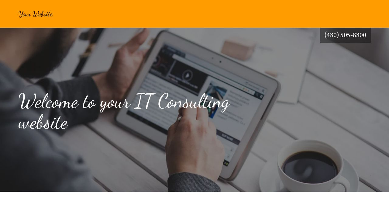 IT Consulting Website: Example 4