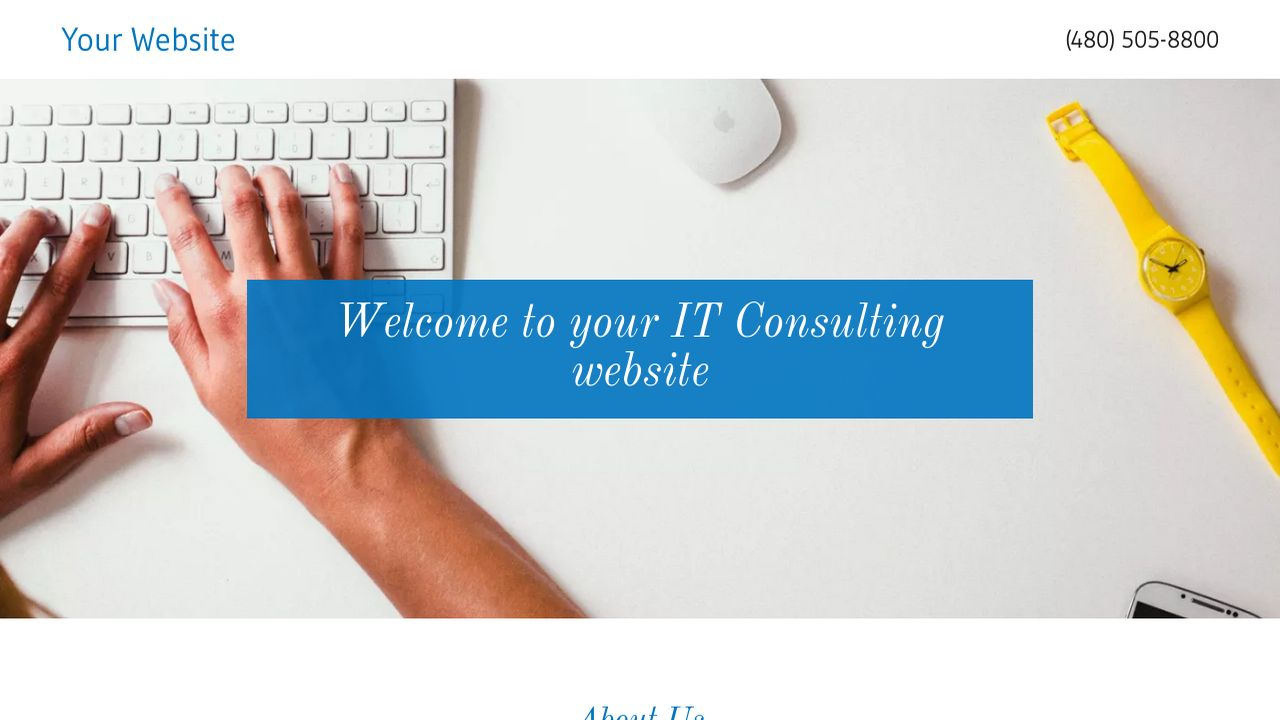 IT Consulting Website: Example 5