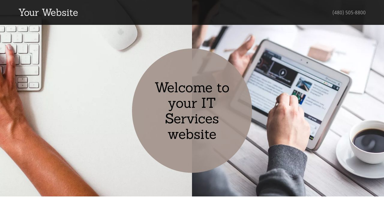 IT Services Website: Example 1