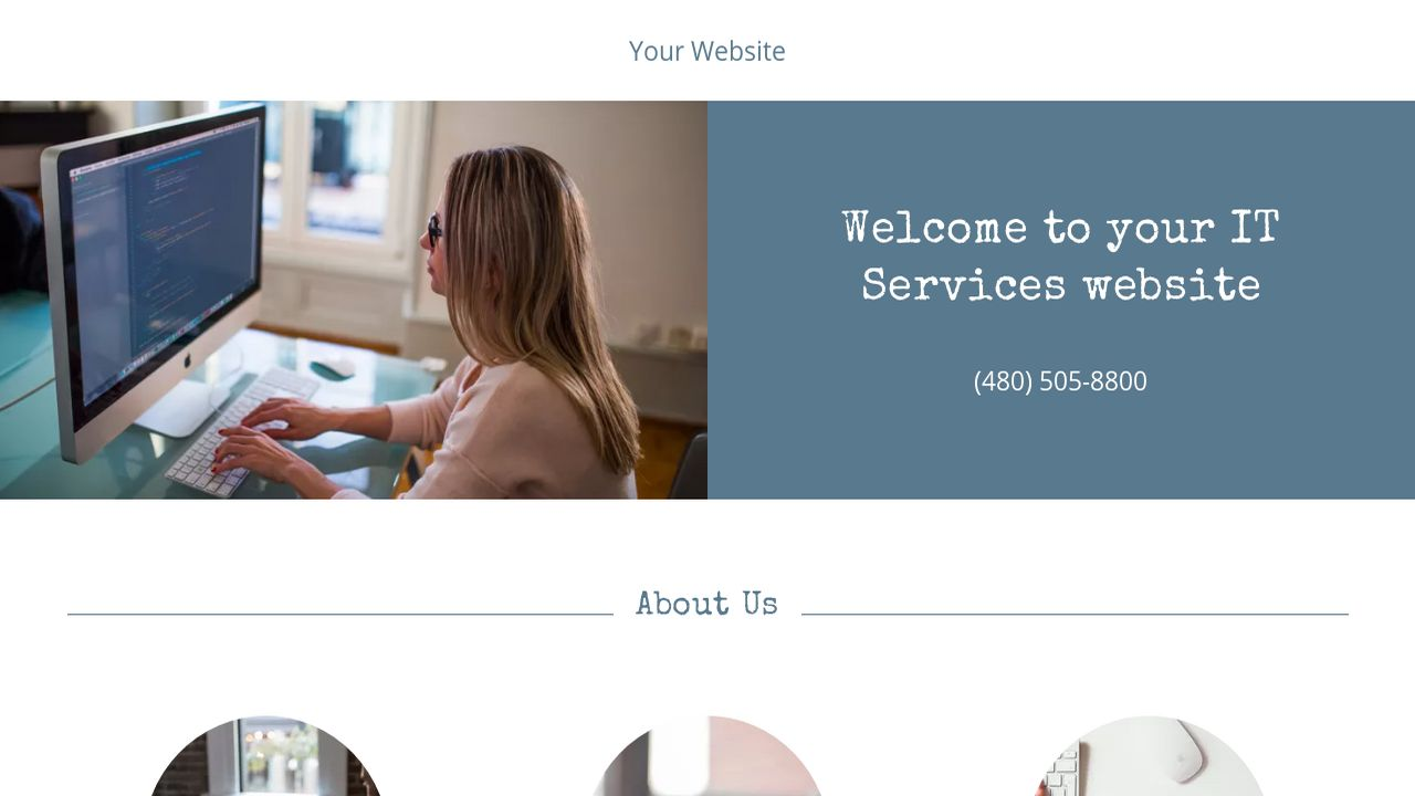 IT Services Website: Example 4