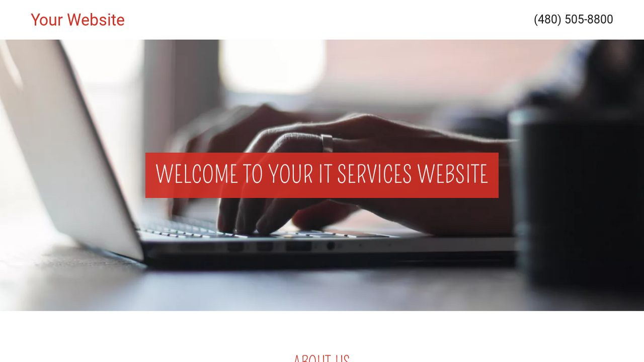 IT Services Website: Example 6
