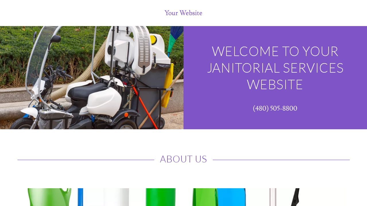 janitorial services website templates godaddy