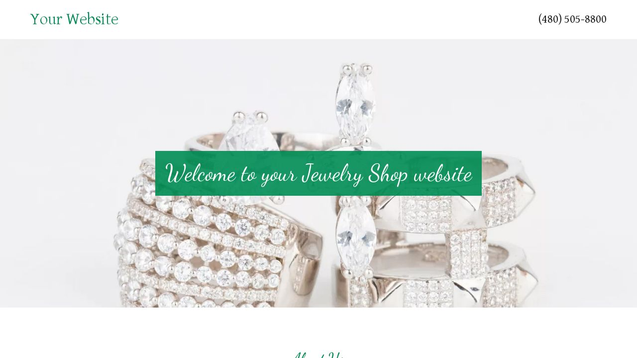 Jewelry Shop Website: Example 1