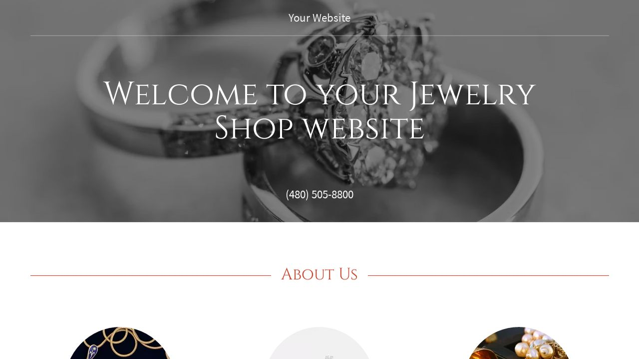 jewelry shop website templates godaddy