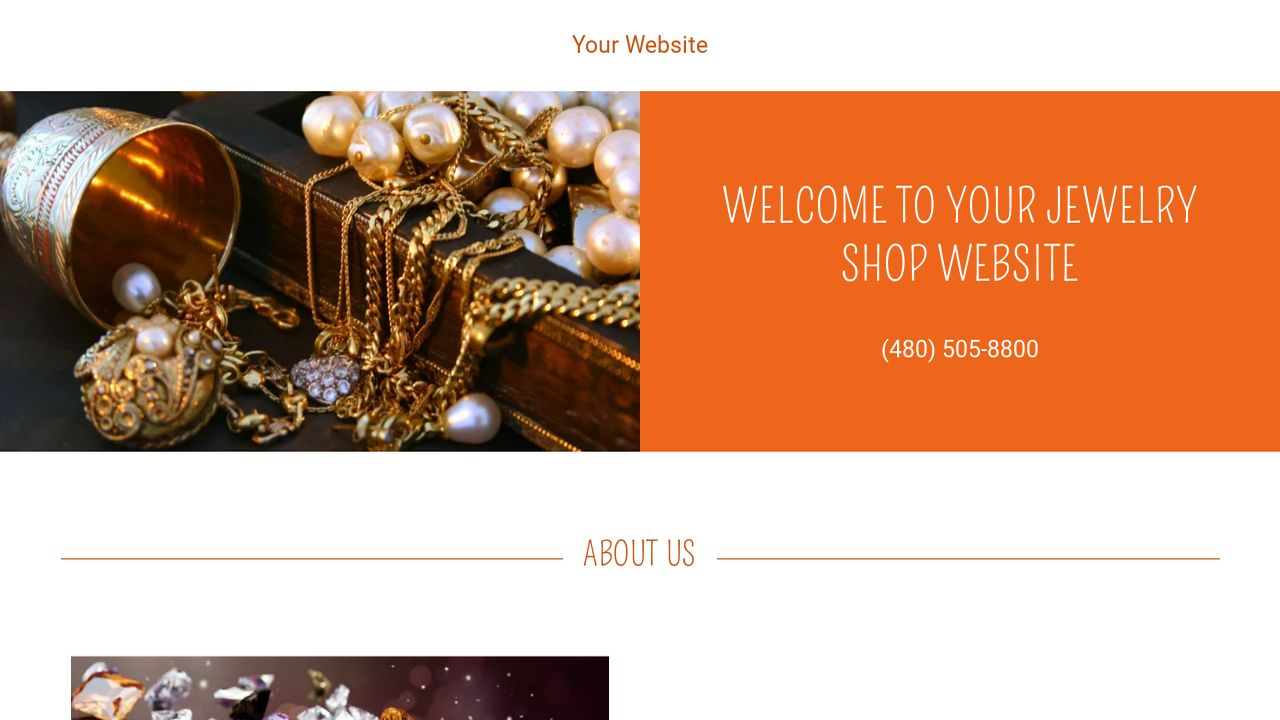 Jewelry Shop Website: Example 13
