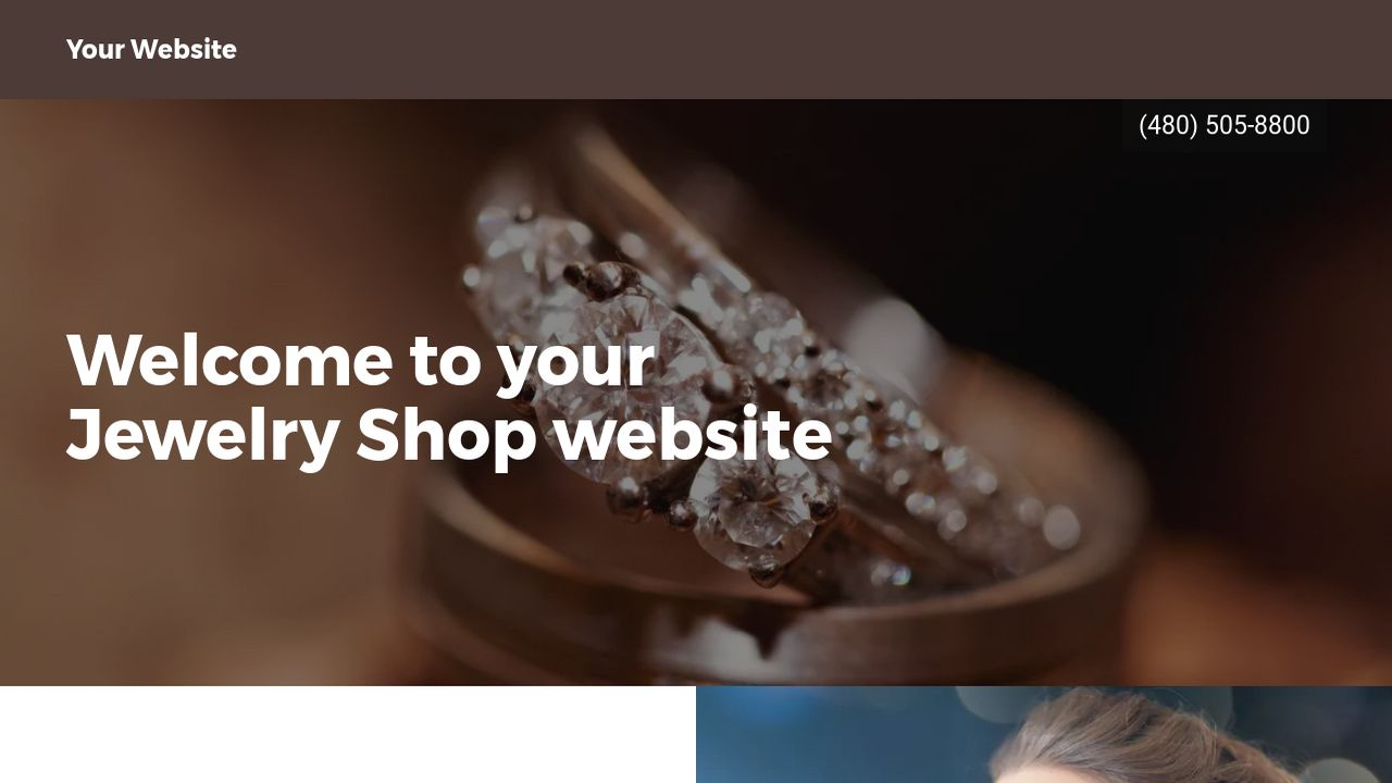 Jewelry Shop Website: Example 14