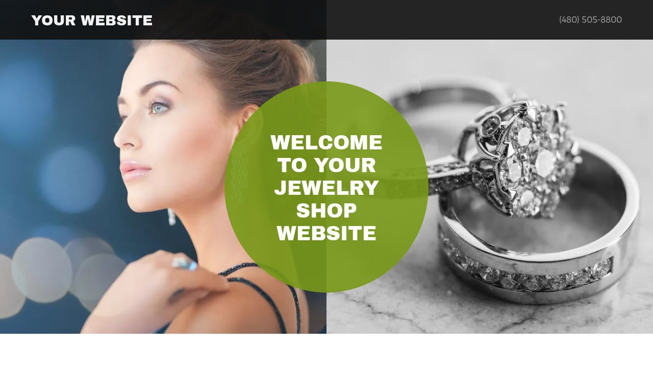 Jewelry Shop Website: Example 2