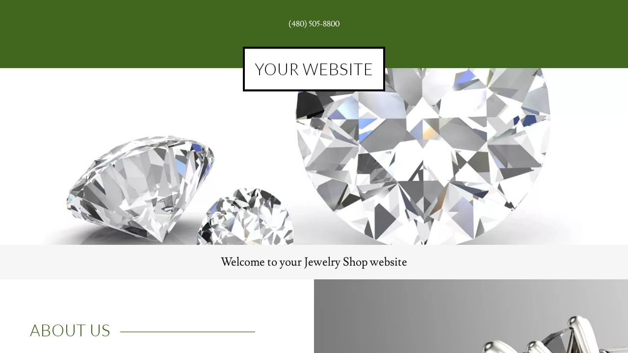 Jewelry Shop Website: Example 4