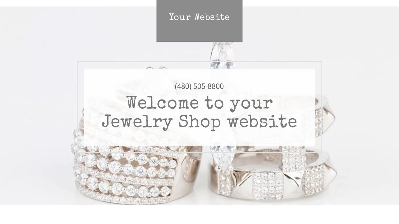 Jewelry Shop Website: Example 5