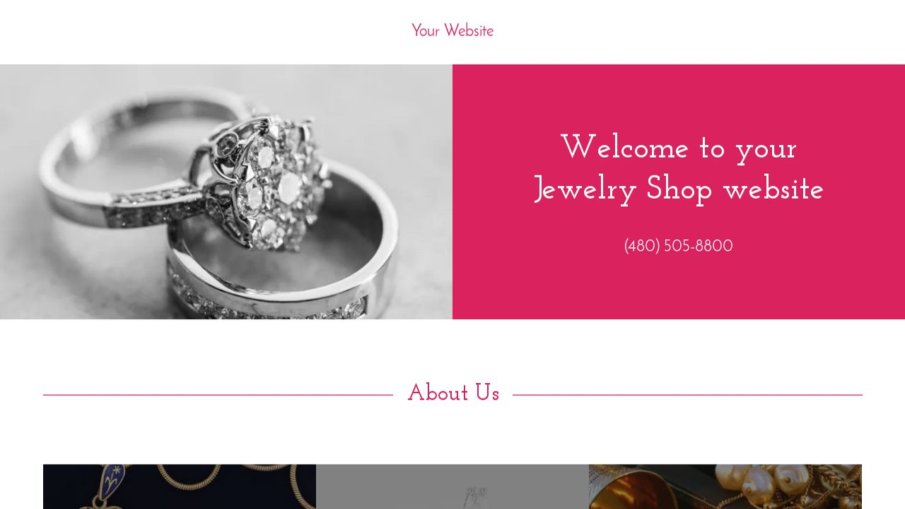Jewelry Shop Website: Example 6