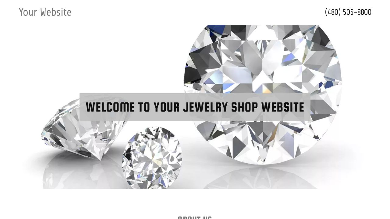 Jewelry Shop Website: Example 8