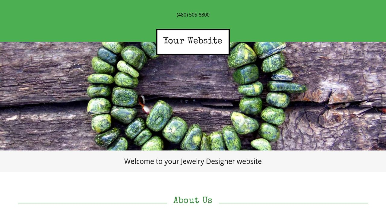 Jewelry Designer Website Templates GoDaddy