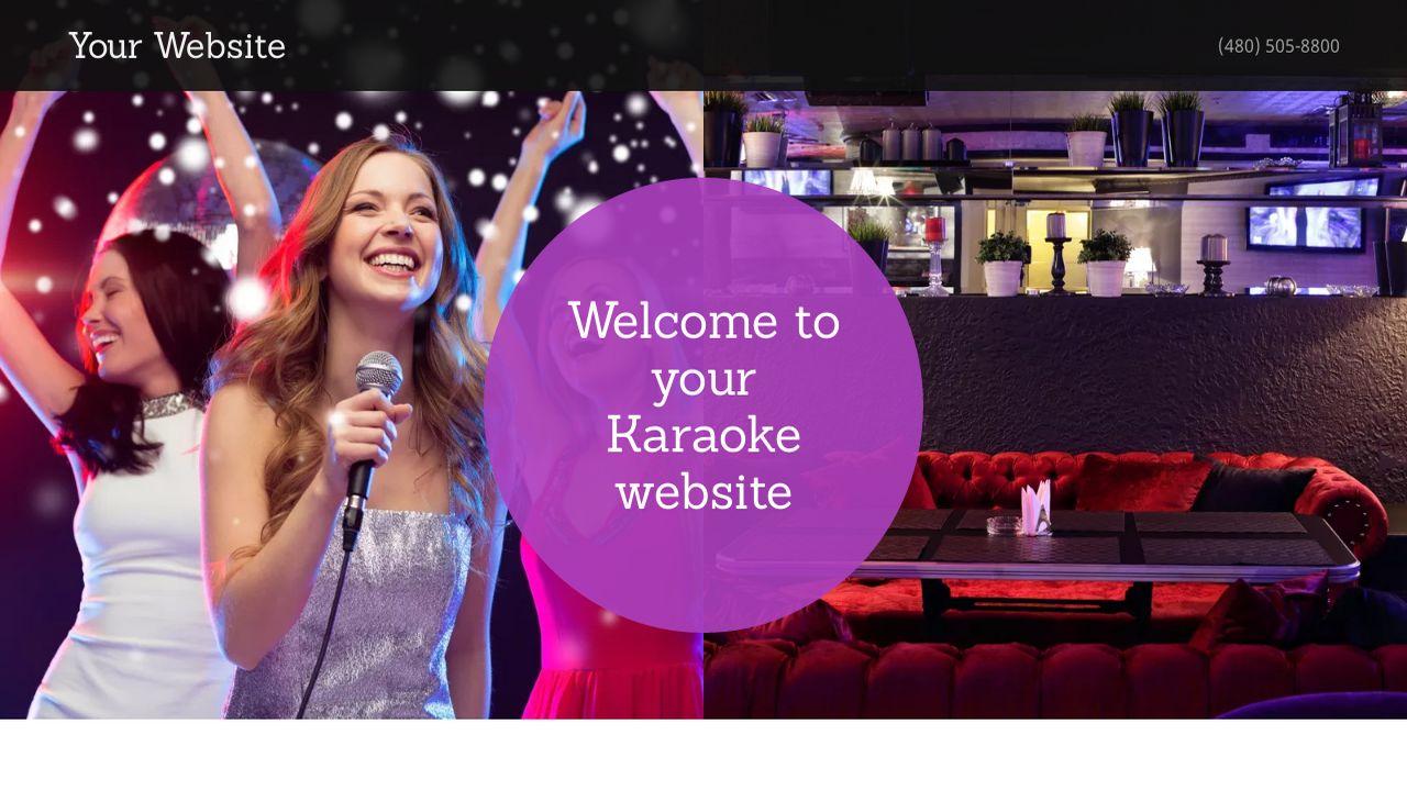 Karaoke Website Templates | GoDaddy