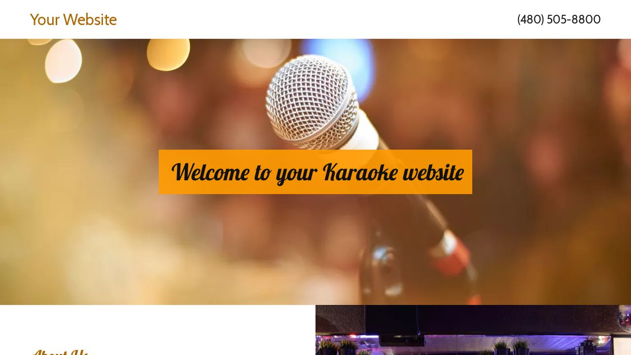 Karaoke Website Templates