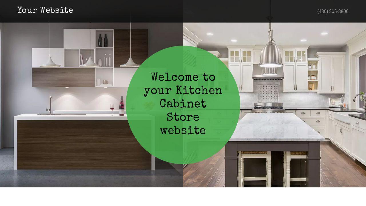 Kitchen Cabinet Store Website Templates | GoDaddy