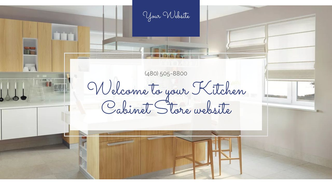 Kitchen cabinet store website templates godaddy for Examples of kitchen cabinets