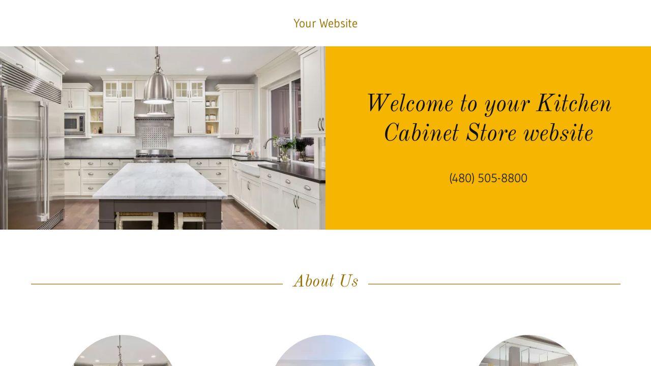 Kitchen Cabinet Store Website Templates