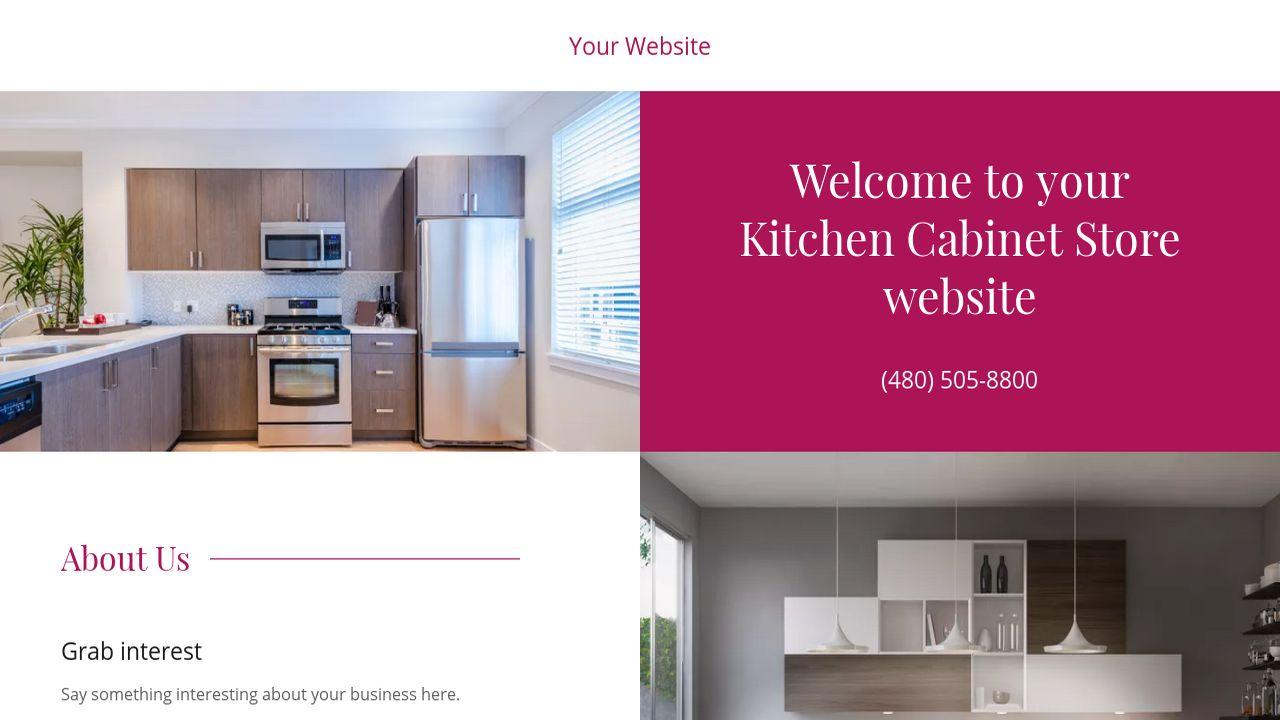 kitchen cabinet store website templates godaddy
