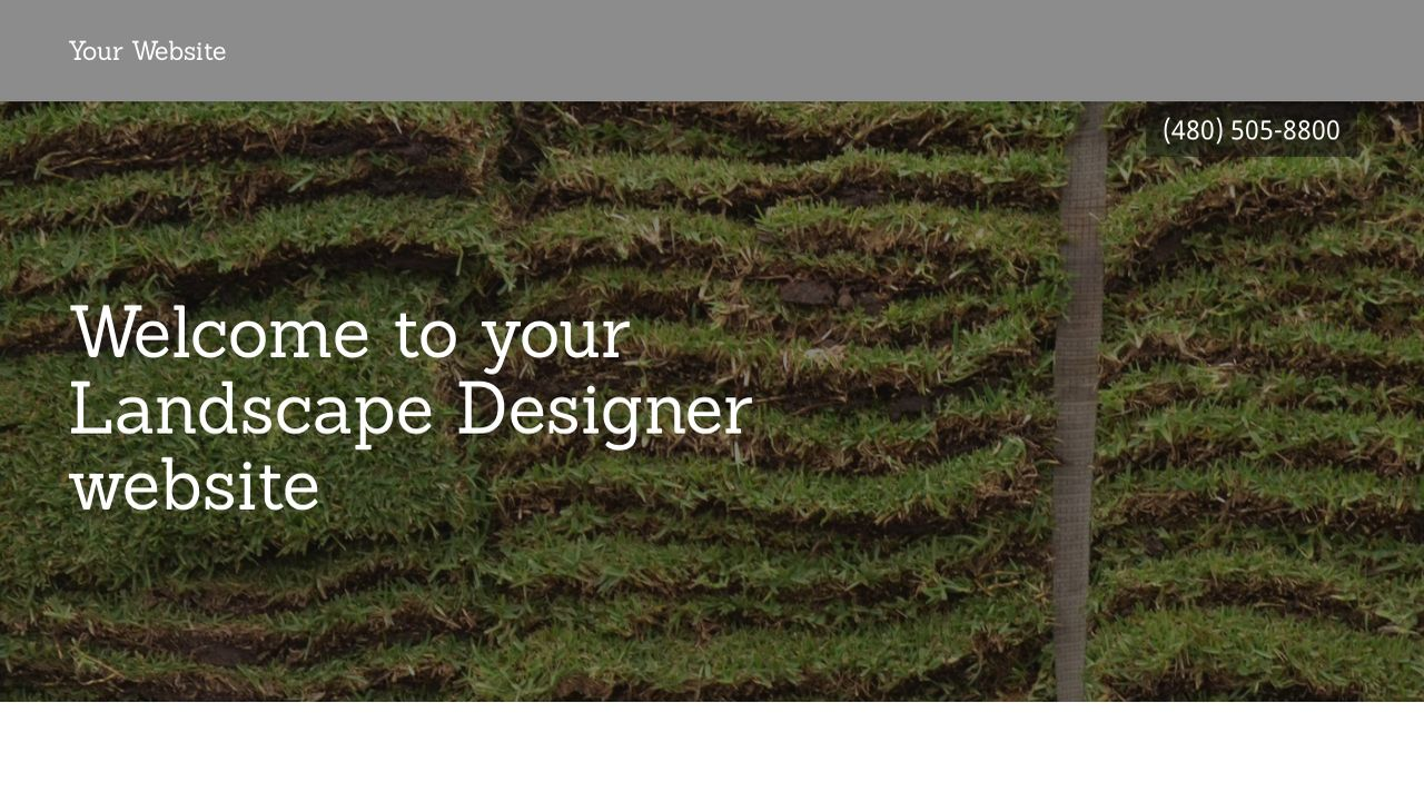 Landscape Designer Website: Example 10