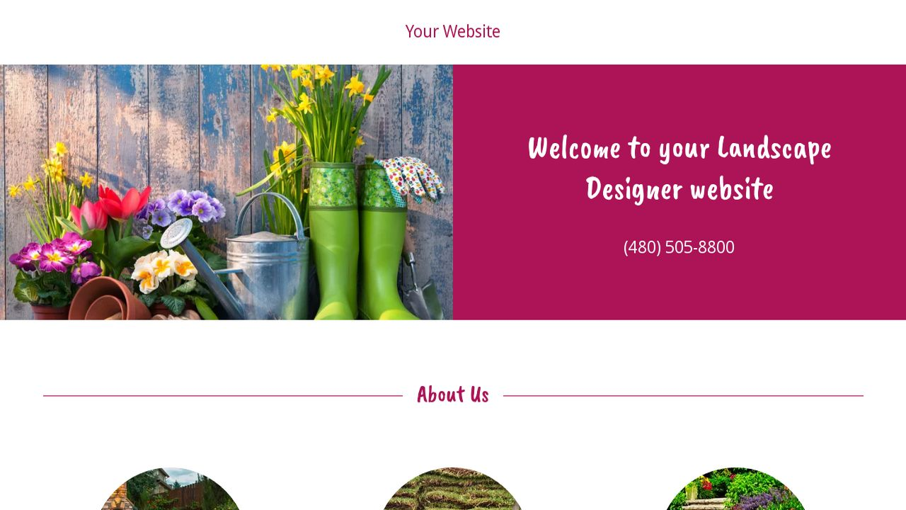 Landscape Designer Website: Example 12
