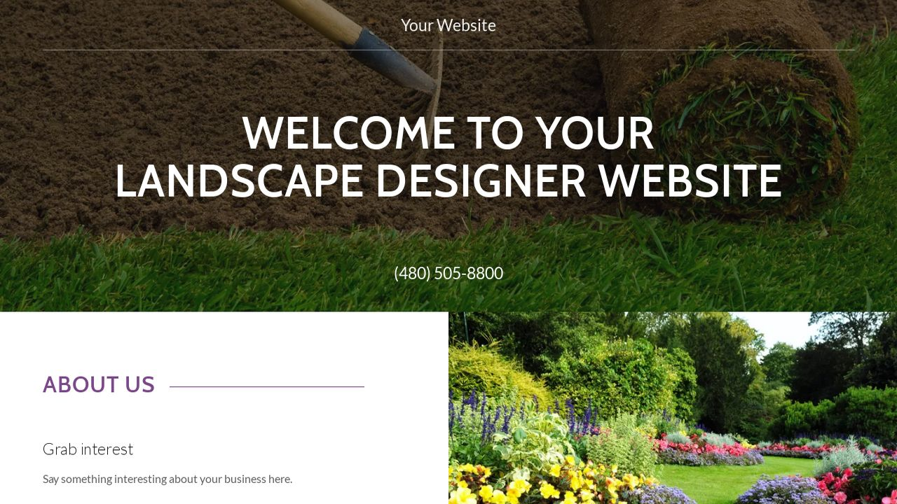 Landscape Designer Website: Example 14