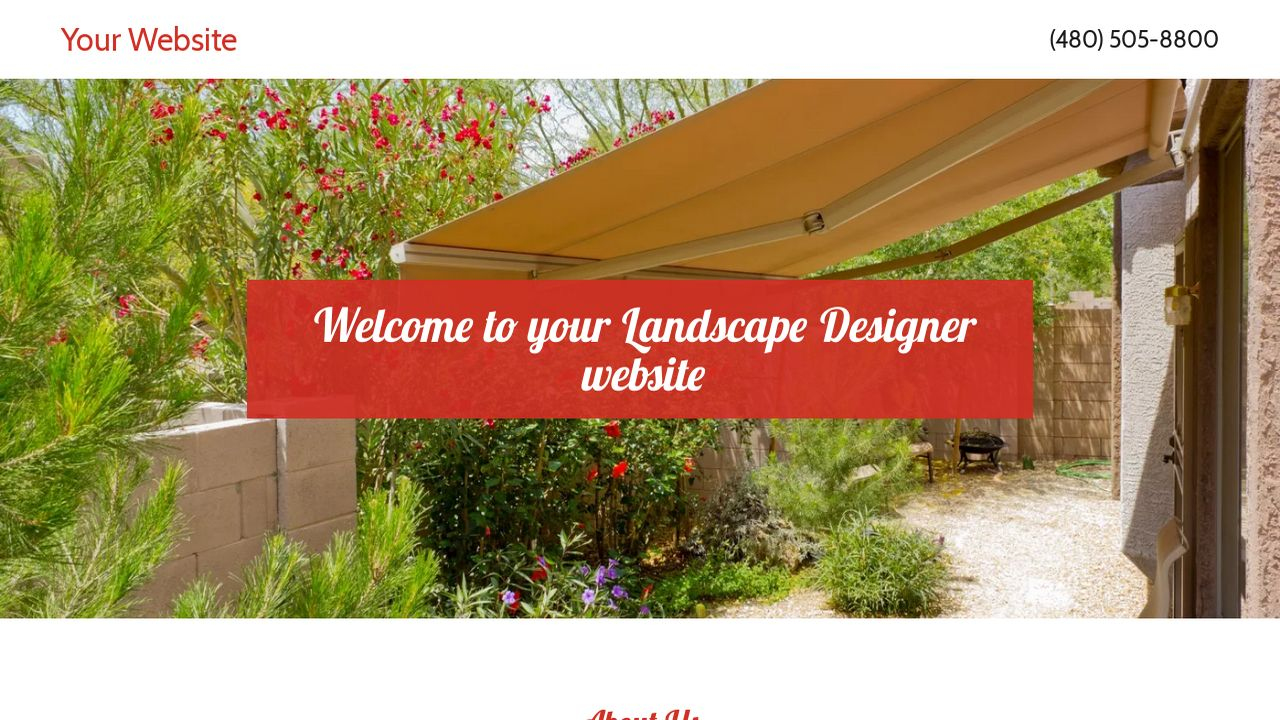 Landscape Designer Website: Example 16