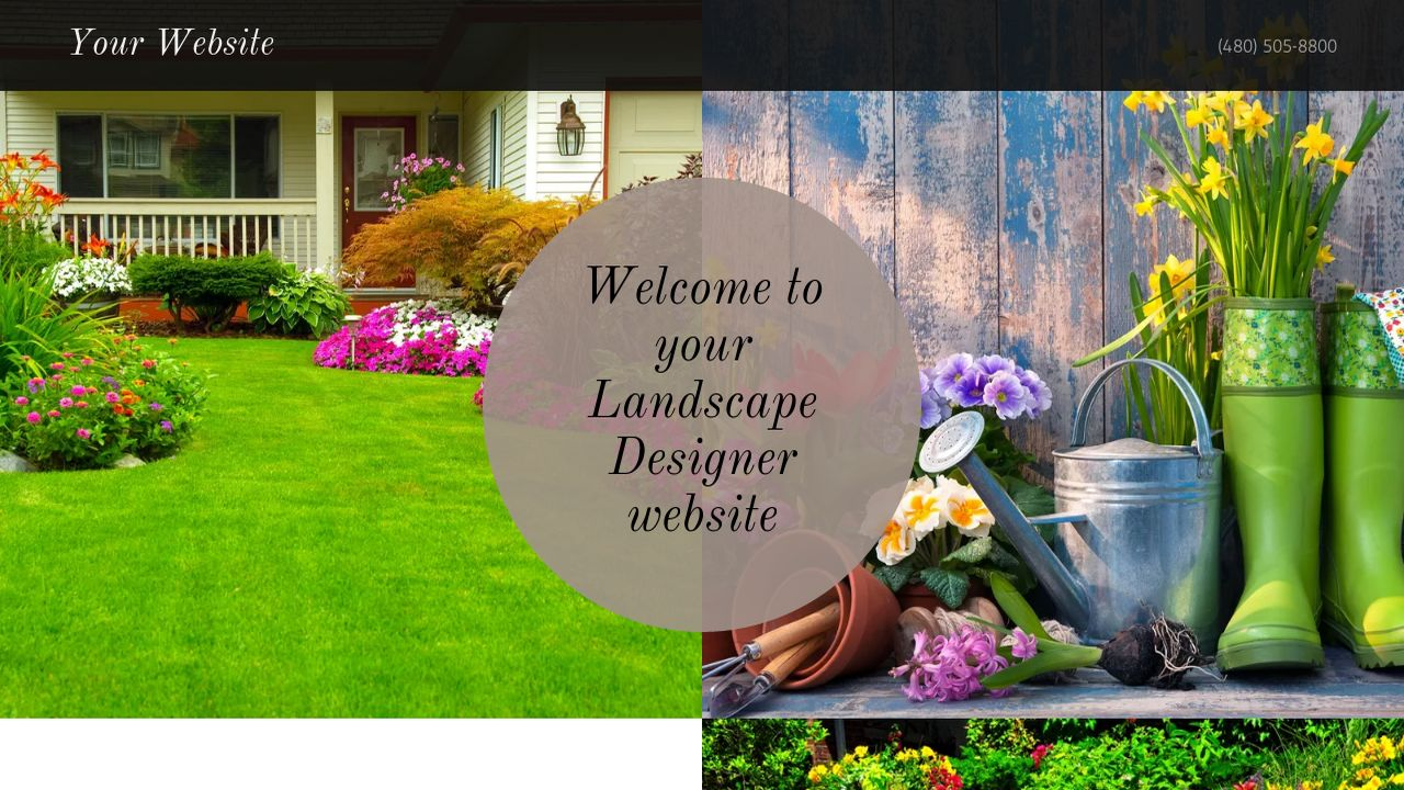 Landscape Designer Website: Example 4