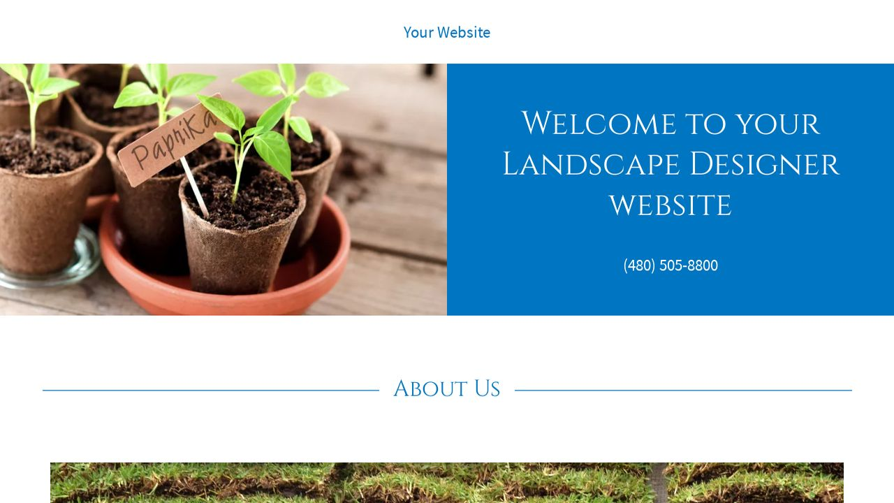 Landscape Designer Website: Example 5