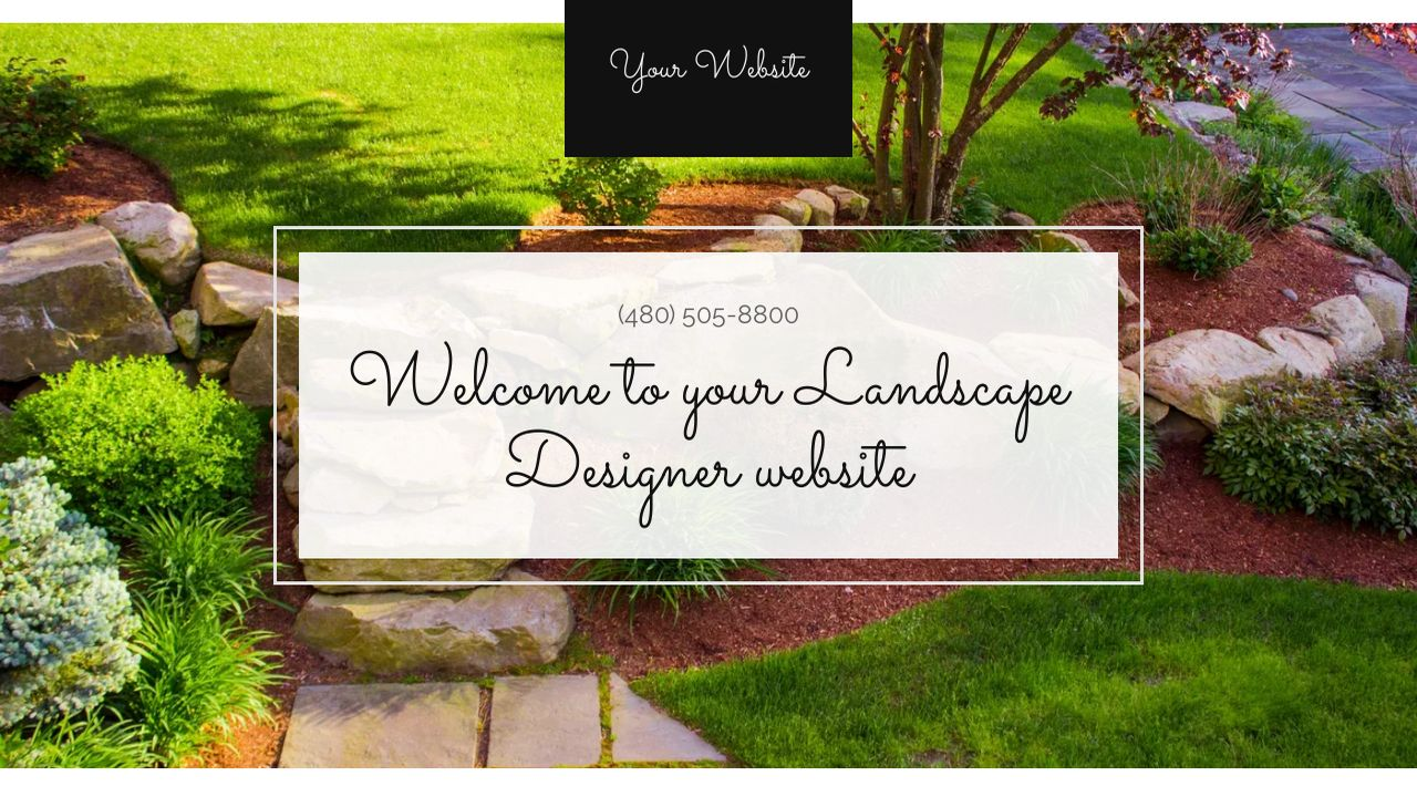 Landscape Designer Website: Example 6