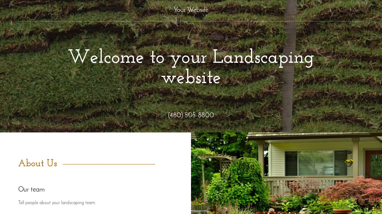 Landscaping Website: Example 14