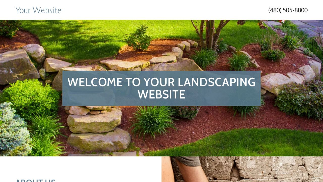 Landscaping Website: Example 4