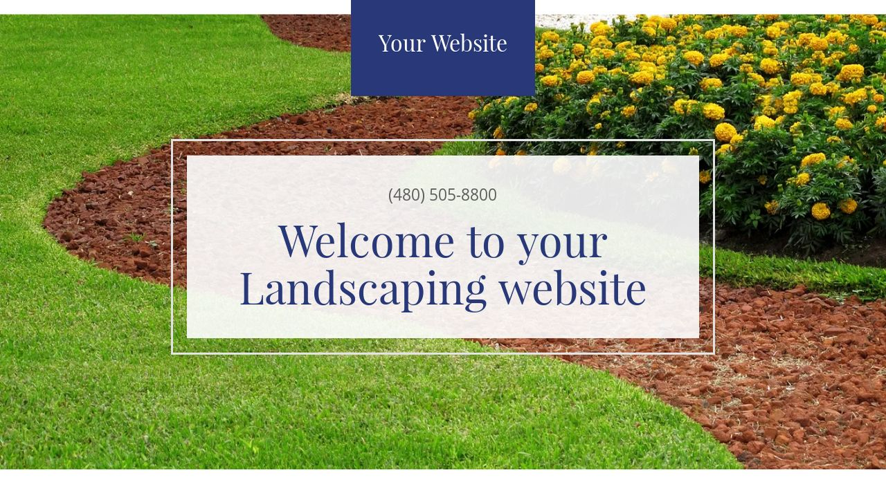 Landscaping Website: Example 8