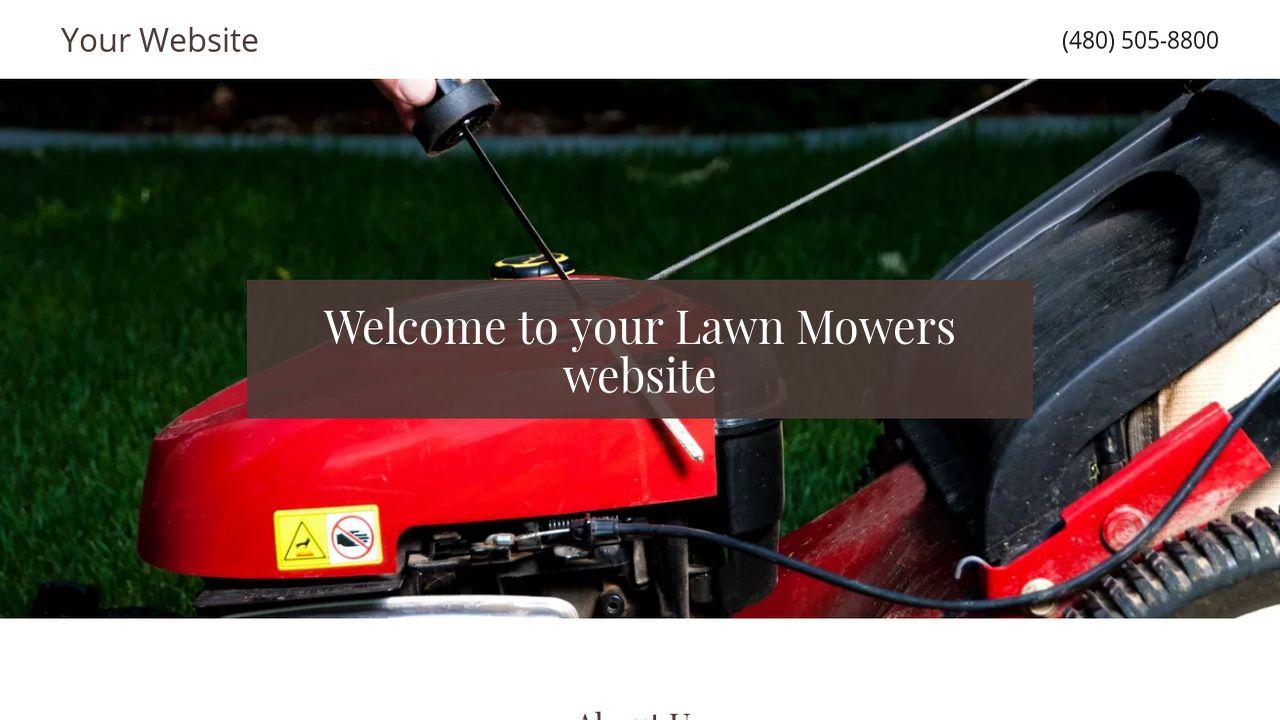 Lawn mowers website templates godaddy lawn mowers example 10 maxwellsz