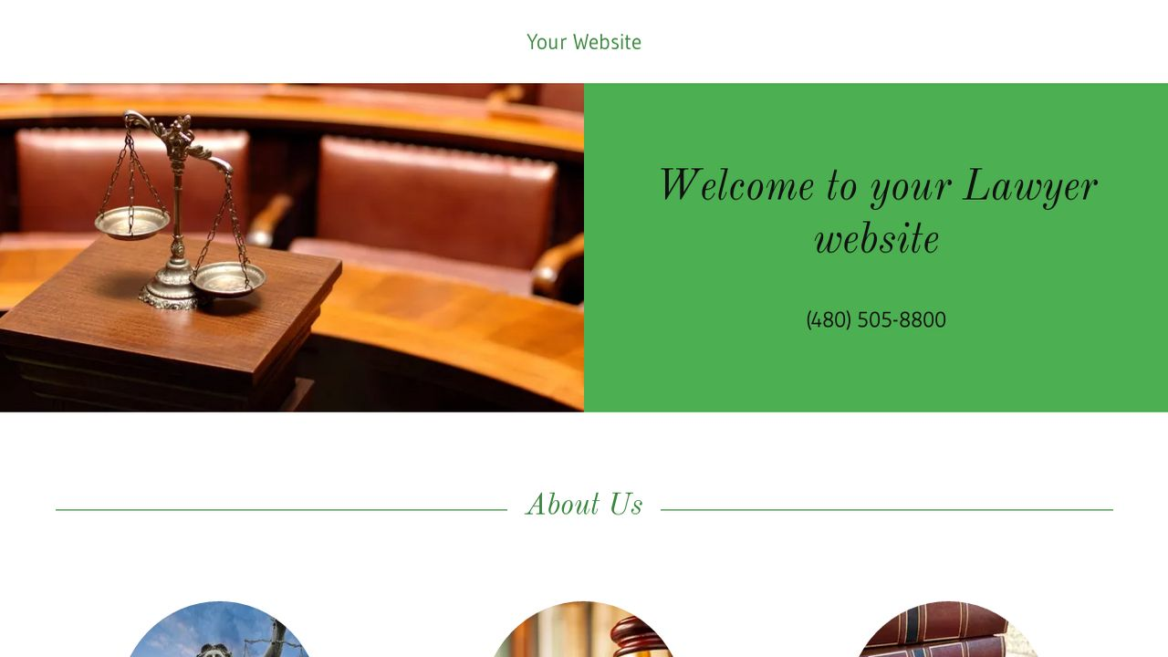 Lawyer Website: Example 18
