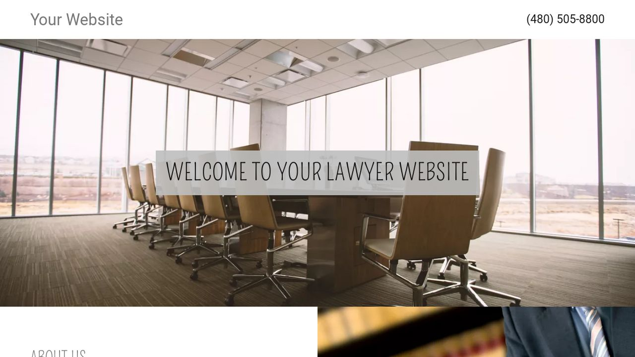 Lawyer Website: Example 2